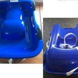 Санки 2 в 1 с колесами, синие, Doloni
