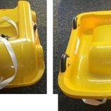 Санки 2 в 1 с колесами, желтые, Doloni