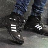 Зимние мужские кроссовки Adidas Climaproof black/white