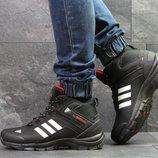 Adidas Climaproof кроссовки мужские зимние черные с белым 6952