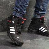 Зимние мужские кроссовки Adidas Climaproof black 6952
