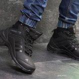 Зимние мужские кроссовки Adidas Climaproof black 6951
