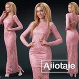 Элегантное нежное платье с открытой спинкой 24241 цвета