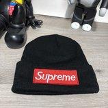 Шапка унисекс / Supreme Winter Hat Tuft Black