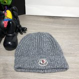 Шапка Moncler Winter Hat Tuft Knitted Gray