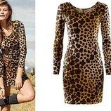 Леопардовое платье H&M из натуральной ткани