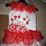 Праздничное бальное платье на девочку 6-8лет