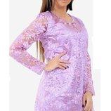 Нарядное вечернее платье шелк армани 3д вышивка на сетке