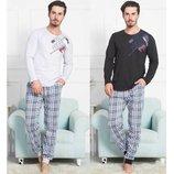 Пижама мужская лонгслив и брюки 1XL-4XL