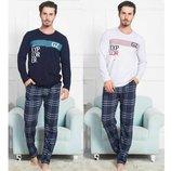 Пижама мужская лонгслив и брюки s-xl