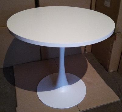 Стол круглый Агис 80 см диаметр высота 73 см белый цвет