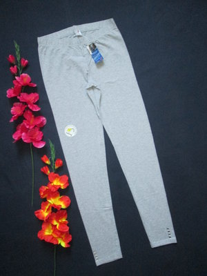 Классические стрейчевые лосины леггинсы серый меланж с камушками Bio Cotton Migros.