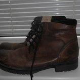 мужские зимние ботинки 43 размер кларкс нубук кожа