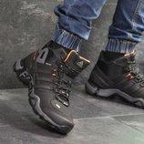 Зимние мужские кроссовки Adidas Terrex 465 black/orange