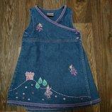 джинсовое платье Next на девочку 1.5 - 2 года в отличном состоянии