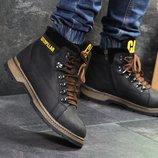 Зимние кожаные ботинки Caterpillar black