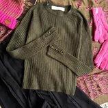 хаки свитер от несравненной Zara