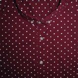 Мужская рубашка безрукавка бардовая в горошек ASOS L