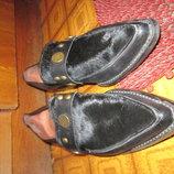 Туфли остроносые кожа мех пони р 37