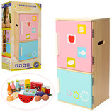 Детский холодильник Metr MD 1065 дерево