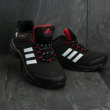 Кроссовки мужские термо Adidas Climaproof black/red
