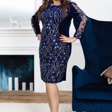 Платье Код 1861 Ам Новинки Цена 565 гр Размер 50,52,54,56 Стильное платье свободного покроя -