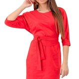 Шикарное замшевое платье с поясом скл.1 арт.48992