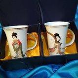 набор чашек, чашка фарфор, подарочный набор чашки, фарфор Китай