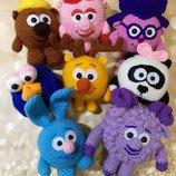 Мягкая игрушка ручной работы вязаные смешарики малышарики герои мультфильма Крош Нюша Панди Игогоша