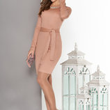 Облегающее платье с запахом и поясом разные цвета