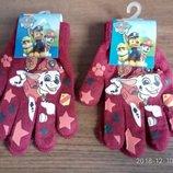 Красные рукавички Щенячий патруль для мальчиков Дисней
