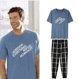 Мужская пижама домашний костюм Livergy Германия, футболка штаны джоггеры