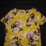 14-16 р-р, новая яркая блузка из креп-шифона от George