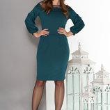 Трикотажное платье с кружевными вставками разные цвета