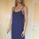 Платье на тонких бретельках сарафан в полоску new look 8 размер