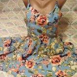 Летнее платье сарафан цветочный принт Missguided