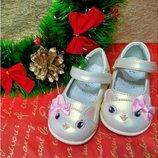 Туфли для девочки Clibee 20, 21, 22, 23, 24, 25 р Золото d-37- gold Нарядные туфли