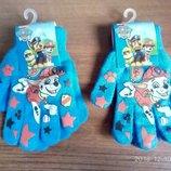 Бирюзовые рукавички Щенячий патруль для мальчиков Дисней