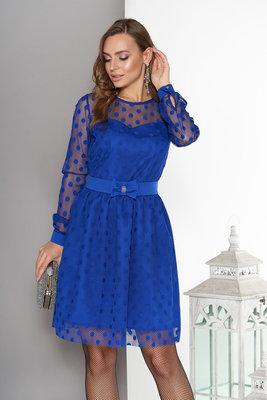 Нарядное двухслойное платье в горох разные цвета