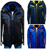 Удлиненная мужская зимняя куртка