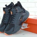Мужские зимние кроссовки Nike Huarache X Acronym City Winter Grey/Orange