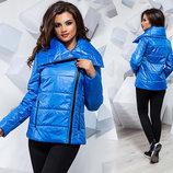 Женская тёплая куртка на синтепоне 1126 Плащёвка Косуха в расцветках.
