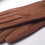 Новые замшевые перчатки.L