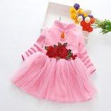 Теплое платье велюр р. 110-120