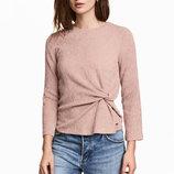 Красивая блуза блузка с драпировкой цвета чайной розы от h&m