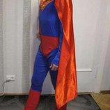 Новогодний костюм классный кигуруми супермен новый год карнавал плащ хс-с 162-170