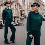 Женский стильный брючный костюм 197 Лондон в расцветках