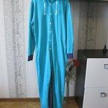 Натуральный домашний спортивный прогулочный костюм комбинезон м-л
