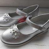 Туфли Томм5282B праздничные ромашки silver 23-32 р., 13