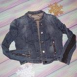 джинсовый пиджак 12-14 р.